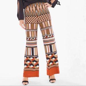 CHICO'S Petites Deco-Print Wide Leg Pants - NWOT